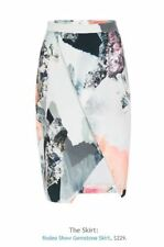 RODEO SHOW New Incredible Multi Color 'Gemstone' Straight Pencil Skirt 12