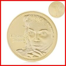 MEDAILLE MICHAEL JACKSON - Plaqué Or 24 K - Collection MJ portrait Medal Gold