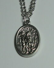 St Hubert & St Rocco Roch Holy Medal on Chain - Patron Saints of Dogs, Hunting!