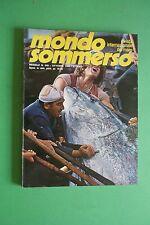 Magazine MONDO SOMMERSO N. 240 DEL 1980 Rivista internazionale del mare