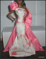 DRESS BARBIE DOLL MODEL MUSE ROSE SPLENDOR EVENING GOWN DESIGNED BY ROBERT BEST