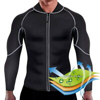 BY: Mens Sweat Neoprene Weight Loss Sauna Suit Workout Shirt Body Shaper Fitness