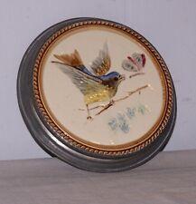 Majolica Antique Tea Tile Trivet Bird Design