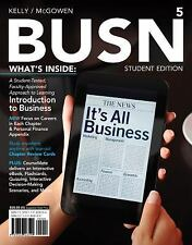 Business Textbook-BUSN 5 by Jim McGowen and Marcella Kelly (2012,Paperback) NEW