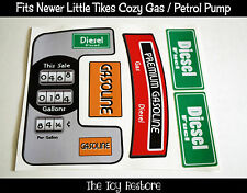New Replacement Decals Stickers fits Little Tikes Cozy Coupe Gas Petrol Pump vtg