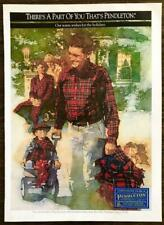 1992 Pendleton Woolens Clothing Christmas Print Ad Father Son Shirts Pajamas