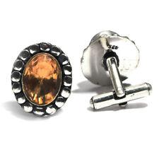 Honey Topaz Gemstone 925 Sterling Silver Cufflinks Jewelry Stnd. 0785