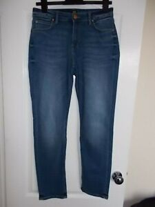Ladies Lee Elly Blue Stretch Straight Fit Denim Jeans W30, L31 (S1)