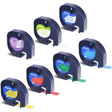 7pk Tape Refills For Dymo Letratag Lt100h 16952 91330 91331 91332 91333 91334
