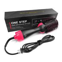 Functional Hair Blow Dryer Volumizer Straightener Curler Comb Infrared Air Brush