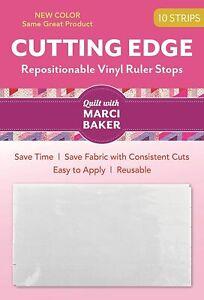 C&T PUBLISHING C&T Cutting Edge Vinyl Ruler Stops White 10pc Free Shipping