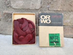 Vintage Veb Filmfabrik Wolfen OR WO Planfilm NP 22 Panchromatic Hair Wig Germany