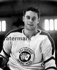 1951 QMHL Quebec Aces Jean Béliveau Black & White 8 X 10 Photo Picture