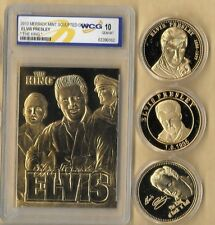 3~ ELVIS PRESLEY 1935 - 1977 GOLD COLLECTOR COIN & CARD SET