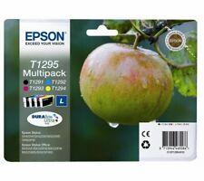 Genuine Epson T1295 Apple Black + Colour Ink Cartridges