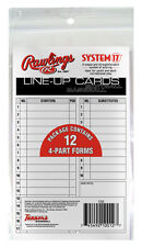 (24) Youth Baseball or Softball Line-Up Lineup Cards ~ 4-Part Forms Line Up