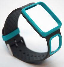 NEW TomTom Comfort Strap Slim TURQUOISE GRAY Runner Multi-Sport GPS watch HRM+