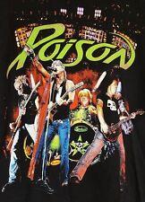 POISON CONCERT T SHIRT L Bret Michaels CC DeVille 2009 Tour 2 sided graphics