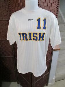 Vintage 90's Adidas Irish Soccer jersey notre Dame Size XL Shirt