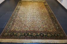 Alter Feiner Handgeknüpfter Perser Orientteppich Blumen HEREKE Carpet 240x350cm