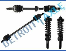 2 Front CV Axle Shaft w/Pair Strut Assembly for 1996 -2000 Honda Civic - Exc Si