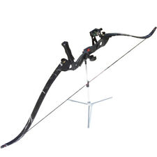 """60"""" Archery Takedown Recurve Bow Set 35-45lbs Arrow Rest Stabilizer Sight Kit RH"""