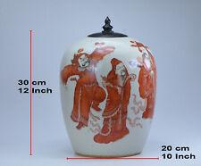 Qing Dynasty Antique 5 IMMORTALITY GODS 福禄寿喜财 BIG VASE