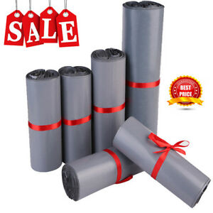 Large Grey Mailing Bags Plastic Mail Post Postage Polythene Strong Self-Seal Bag
