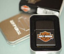 (PRL) ZIPPO HARLEY DAVIDSON HD BAR AND SHIELD BLACK 218 LOGO MOTO MOTOR NUOVO