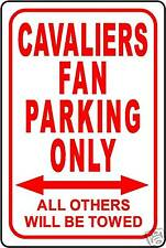"""CAVALIERS FAN PARKING ONLY SIGN 12""""x18"""" ALUMINUM SIGN"""