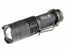 Mini 300LM ZOOM 3-Mode Adjustable Focus Power CREE Q5 LED Flashlight Torch Light
