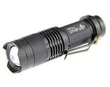 Mini 300LM ZOOM 3-Mode Adjustable Focus Power CREE Q5 LED Flashlight Torch Light