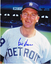 BILL HEATH  DETROIT TIGERS    ACTION SIGNED 8x10