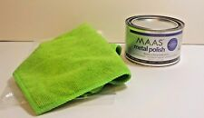 Maas 1.1 Lb Can Polish Silver Brass Metal  And Green 12 x 16 In Microfiber Cloth