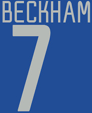Manchester United Beckham Nameset Shirt Soccer Number Letter Heat Football 3rd