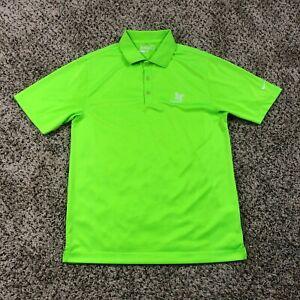 Nike Tour Performance Kapalua Golf Polo Shirt Men Sz S Lime Green Maui Hawaii