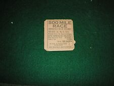 Vintage Indy 500 Ticket Stub 1953 Vg