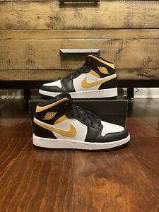 Nike Air Jordan 1 Mid Pollen Black White 554725-177 GS Sizes