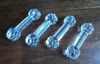 Lot de 4 anciens porte couteaux en cristal moulé VALSTLAMBERT