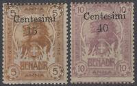SOMALIA 1905 ELEFANTI E LEONI ZANZIBAR 2 V. N.8-9 G.I MNH** CERT.