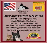 500 doses Flea killer bulk oral powder 3gm best value Dogs,Cats up to 12lbs.