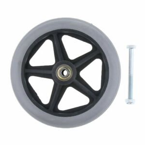 2pcs Wheelchair Front Castor Wheels Replacement Part Tool 6 7 8 inch 5 Spokes