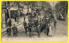 cpa 75 - PARIS Bd des CAPUCINES Agents de POLICE Service des VOITURES Policemen