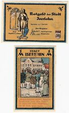 Germany 1 Mark 1921 Notgeld Iserlohn AU-UNC Banknote - w dry seal