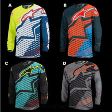 Alpinestars Racer Braap Blau Orange mx motocross Cross Jersey Shirt Enduro BMX
