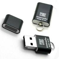 USB 2.0 Mini Size Micro SD T-Flash Card Reader Adapter up to 480Mbps BlackorRose