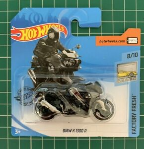 Hot Wheels BMW K1300 R Motorbike Black Grey Factory Number 65 New and Unopened