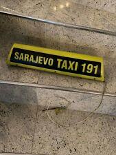 Taxi Schild aus Bosnien Sarajevo Taxi Bosnia