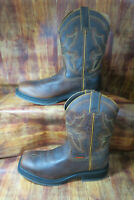 Double H DH6116 Men's 11 D Tan Leather Square Toe ICE Western Cowboy Boots #1364