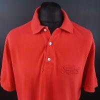 Lacoste Mens Polo Shirt 6 (XL) Short Sleeve Red Regular No Pattern Cotton